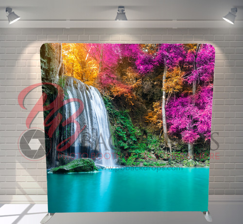Single-sided Pillow Cover Backdrop  - Magical Waterfall | PB Backdrops