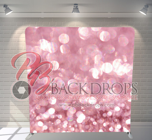 Single-sided Pillow Cover Backdrop  - Pink Sparkle | PB Backdrops