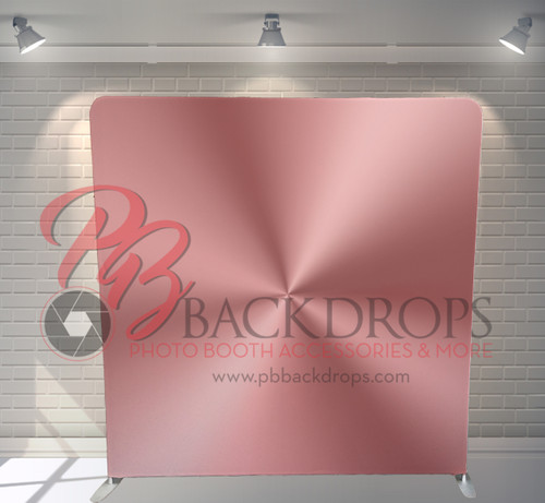 Single-sided Pillow Cover Backdrop  - Rose Gold Metal | PB Backdrops