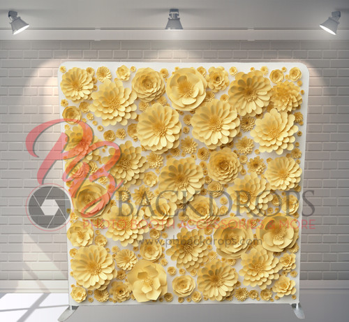 Single-sided Pillow Cover Backdrop  - Summer Flowers | PB Backdrops