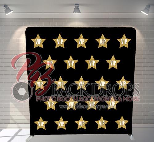 Single-sided Pillow Cover Backdrop  - VIP Black | PB Backdrops