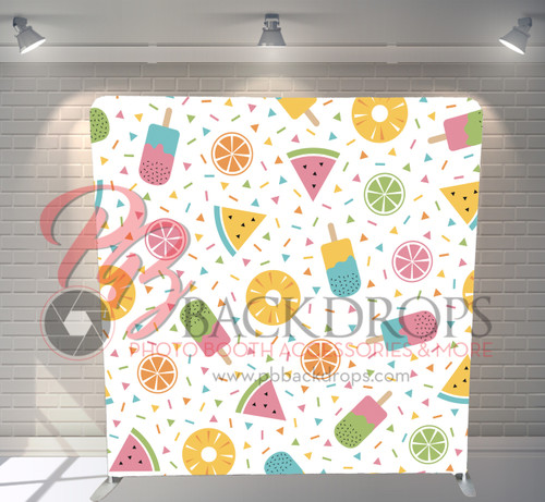 Single-sided Pillow Cover Backdrop  - We Love Summer | PB Backdrops