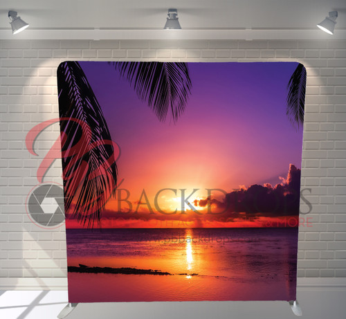 Single-sided Pillow Cover Backdrop  - Beach Sunset | PB Backdrops