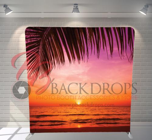 Single-sided Pillow Cover Backdrop  - Sunset Paradise | PB Backdrops