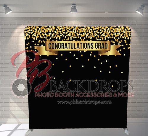 Single-sided Pillow Cover Backdrop  - Congrats Grad | PB Backdrops