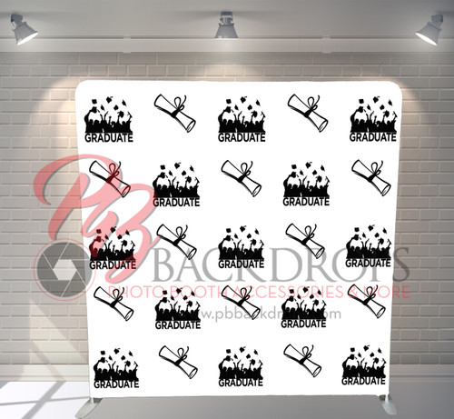 Single-sided Pillow Cover Backdrop  - Flying Grad | PB Backdrops