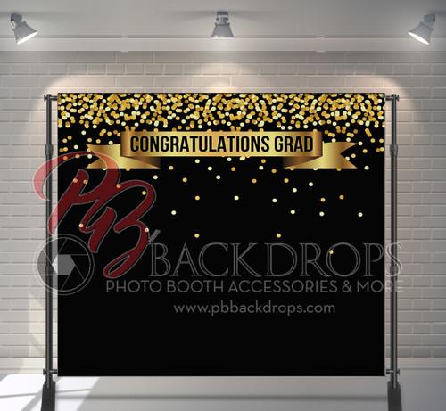 8x8 Printed Tension fabric backdrop - Congrats Grad | PB Backdrops