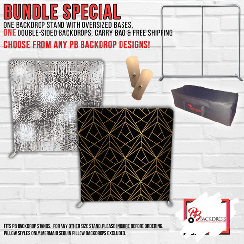 Startup Package - 1 Pillow Cover Stand with Oversized bases and  double sided backdrop with Free Shipping Worldwide
