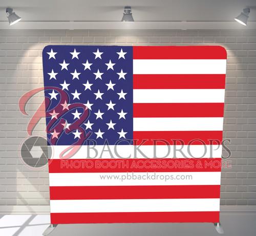 Single-sided Pillow Cover Backdrop  - American Flag | PB Backdrops