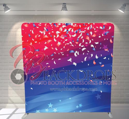 Single-sided Pillow Cover Backdrop  - July 4th Confetti | PB Backdrops