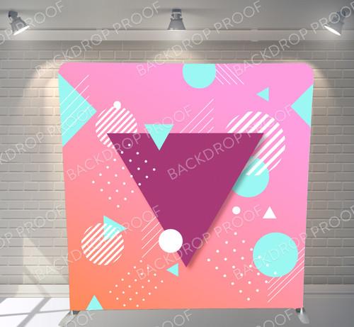 Single-sided Pillow Cover Backdrop  - Abstract Sherbert | PB Backdrops