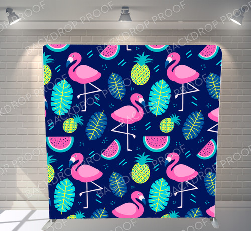 Single-sided Pillow Cover Backdrop  - Flamingo Party | PB Backdrops