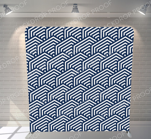 Single-sided Pillow Cover Backdrop  - Geometric Pattern | PB Backdrops