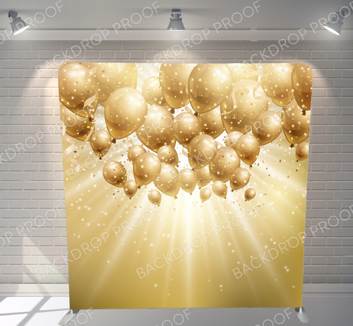 Single-sided Pillow Cover Backdrop  - Gold Balloons | PB Backdrops