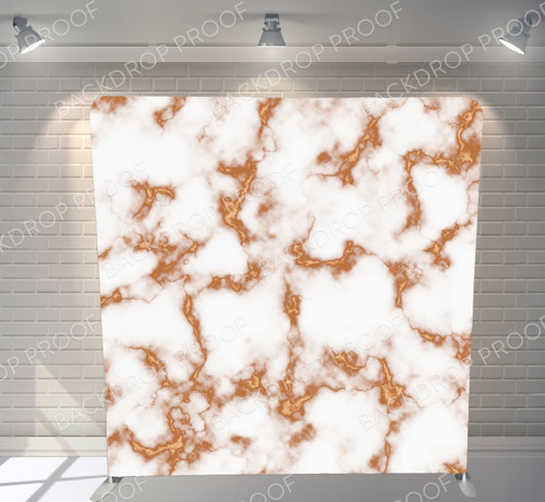 Single-sided Pillow Cover Backdrop  - Gold and White Marble | PB Backdrops
