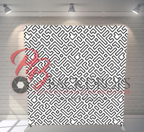 Single-sided Pillow Cover Backdrop  - Maze   PB Backdrops