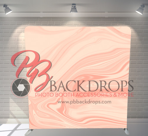 Single-sided Pillow Cover Backdrop  - Peach Marble | PB Backdrops