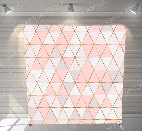 Single-sided Pillow Cover Backdrop  - Pink Bohemian Triangle | PB Backdrops