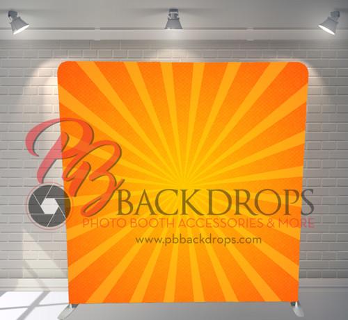 Single-sided Pillow Cover Backdrop  - Sunburst   PB Backdrops