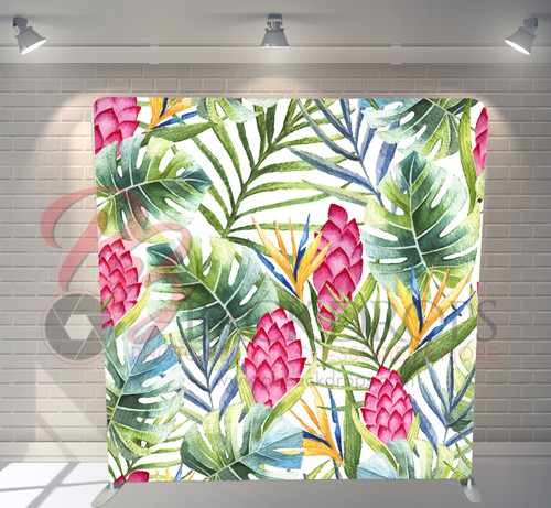 Single-sided Pillow Cover Backdrop  - Tropical Resort | PB Backdrops