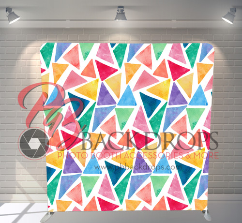 Single-sided Pillow Cover Backdrop  - Watercolor Fiesta   PB Backdrops