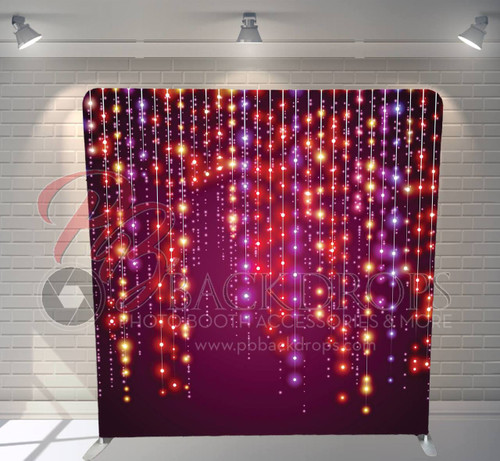 Single-sided Pillow Cover Backdrop  - Dangling Lights | PB Backdrops