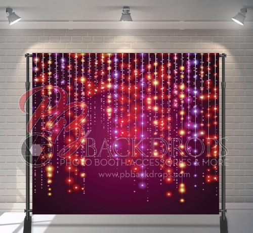 8x8 Printed Tension fabric backdrop - Dangling Lights | PB Backdrops