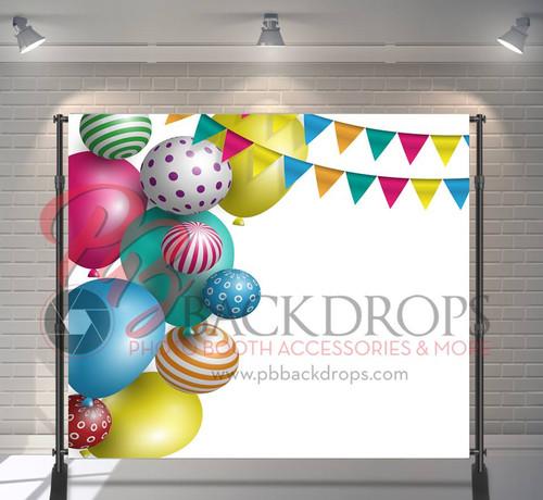 8x8 Printed Tension fabric backdrop - Party Balloons | PB Backdrops