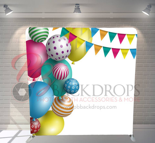 Single-sided Pillow Cover Backdrop  - Party Balloons | PB Backdrops