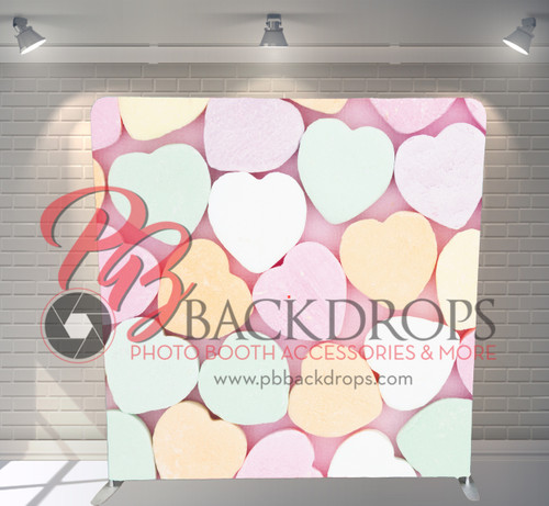 Single-sided Pillow Cover Backdrop  - Sweetheart Candy | PB Backdrops