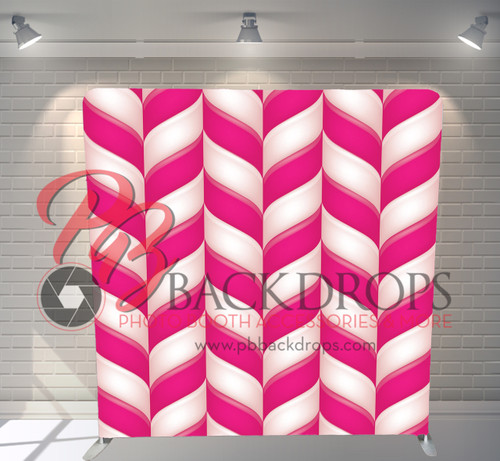 Single-sided Pillow Cover Backdrop  - Candy Stripes | PB Backdrops