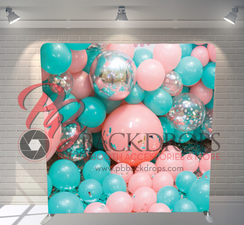 Single-sided Pillow Cover Backdrop  - Balloon Wall | PB Backdrops