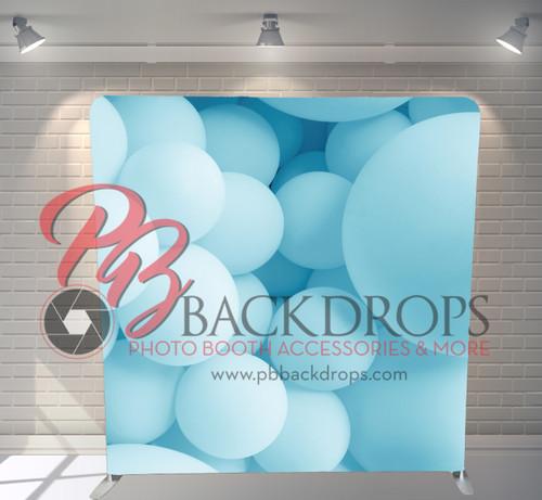 Single-sided Pillow Cover Backdrop  - Baby Blue Balloon   PB Backdrops