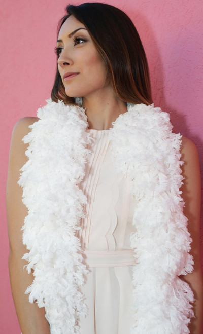 XL SUPER Sized Featherless Boa - - Snow White | PB Backdrops