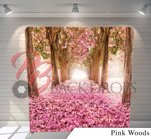 Single-sided Pillow Cover Backdrop  - Pink Woods | PB Backdrops