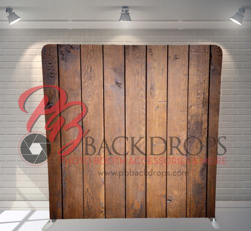Single-sided Pillow Cover Backdrop  - Dark Barn Wood | PB Backdrops