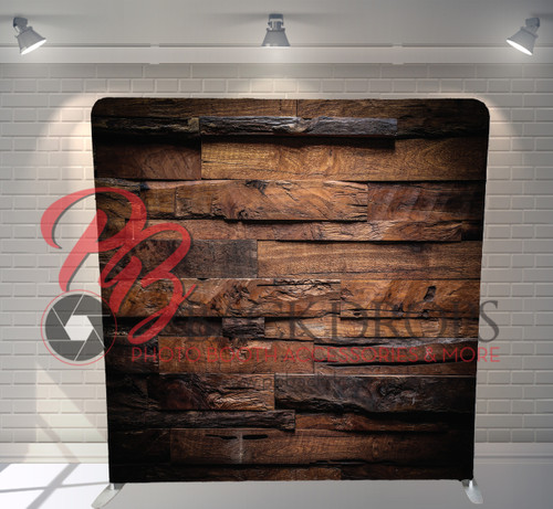 Single-sided Pillow Cover Backdrop  - Cafe Wood | PB Backdrops