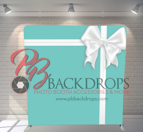 Single-sided Pillow Cover Backdrop  - Tiffany Bow | PB Backdrops