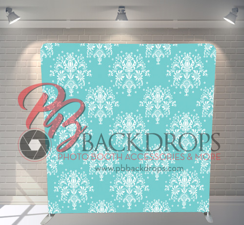 Single-sided Pillow Cover Backdrop  - Tiffany Damask | PB Backdrops