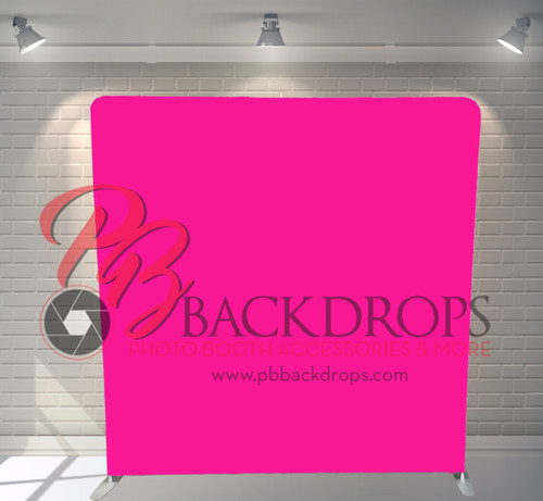 Single-sided Pillow Cover Backdrop  - Hot Pink | PB Backdrops