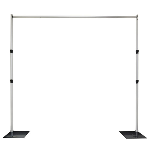 10'-10' Adjustable Pipe and Drape Set Up with lower crossbar w/Carry Bags