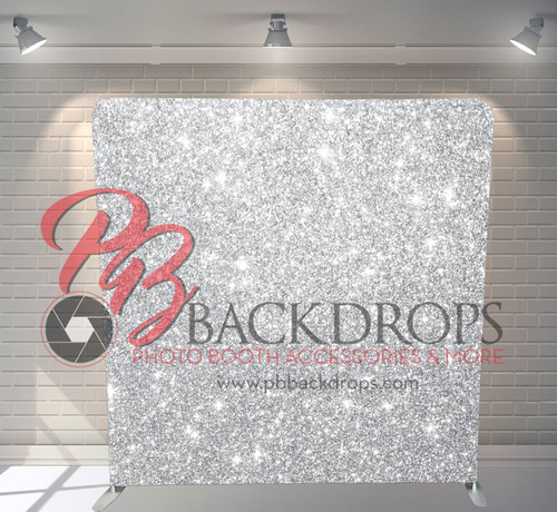 Single-sided Pillow Cover Backdrop  - Silver Sparkle | PB Backdrops