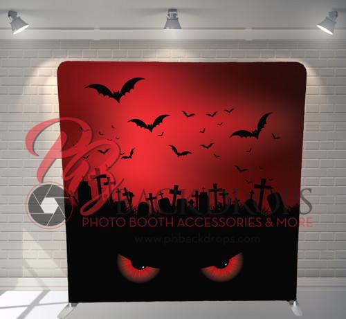 Single-sided Pillow Cover Backdrop  - Evil Bat Eyes | PB Backdrops