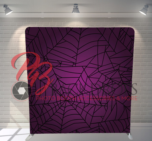Single-sided Pillow Cover Backdrop  - Giant Spider Web | PB Backdrops