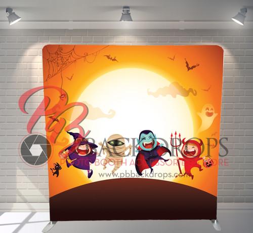 Single-sided Pillow Cover Backdrop  - Halloween Kids | PB Backdrops