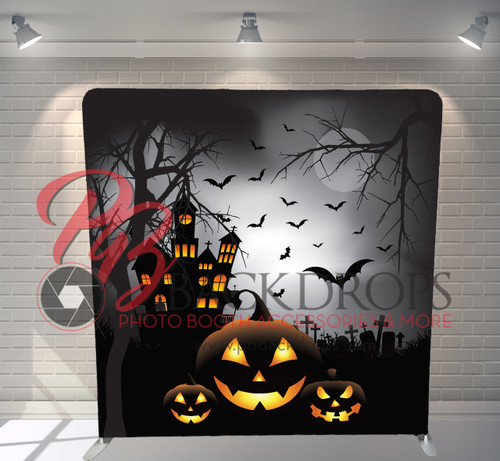 Single-sided Pillow Cover Backdrop  - Haunted House | PB Backdrops