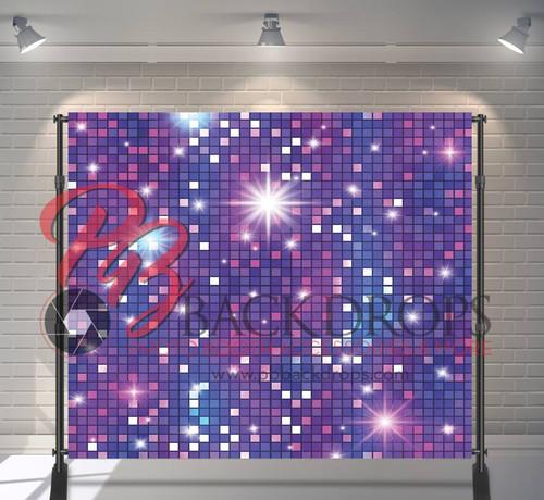 8x8 Printed Tension fabric backdrop - Disco Wall | PB Backdrops