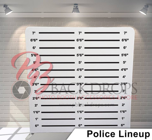Single-sided Pillow Cover Backdrop  - Police Lineup | PB Backdrops