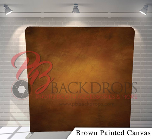 Single-sided Pillow Cover Backdrop  - Brown Painted Canvas | PB Backdrops