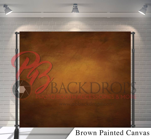 8x8 Printed Tension fabric backdrop - Brown Painted Canvas | PB Backdrops
